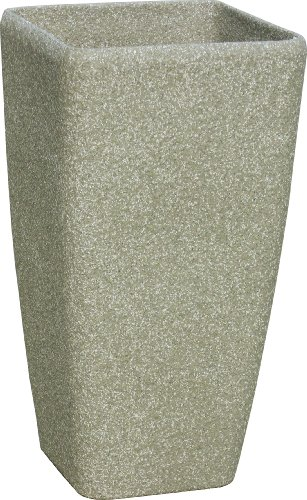 Stone Light ST Series 16 in. (dia) x 30 in. (height). Cast Stone Square Planter, Limestone (Planters Terra Cast)