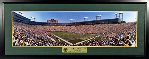 Lambeau Field Framed - Green Bay Packers Lambeau Field Panoramic (Deluxe) Framed