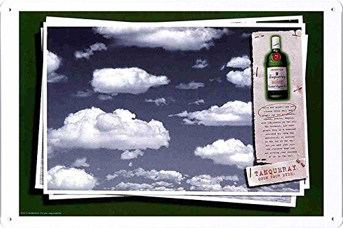 tin-sign-metal-poster-plate-8x12-of-tanqueray-special-dry-gin-clouds-by-food-beverage-decor-sign
