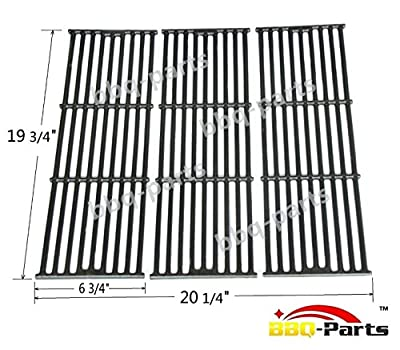 Hongso PCE051 Universal Gas Grill Grate Matte Cast Iron Cooking Grid Replacement for Chargriller gas grill models 2121, 2123, 2222, 2828, 3001, 3030, 3725, 4000, 5050, 5252
