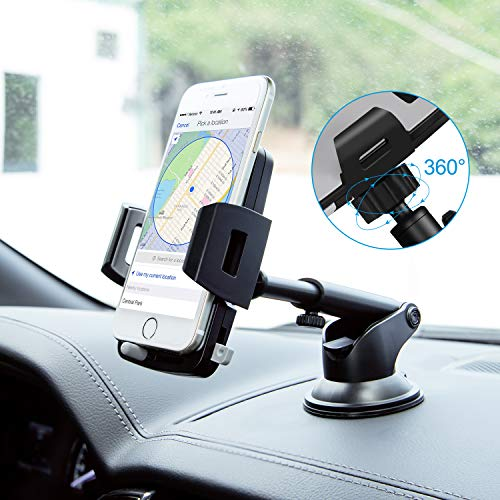 Car Phone Mount,Washable Strong Sticky Dashboard and Windshield Phone Mount Holder with One-Touch Design for Phone X/8/8Plus/7/7Plus/6s/6Plus/5S, Galaxy S5/S6/S7/S8, Nexus, LG and More by CellStand