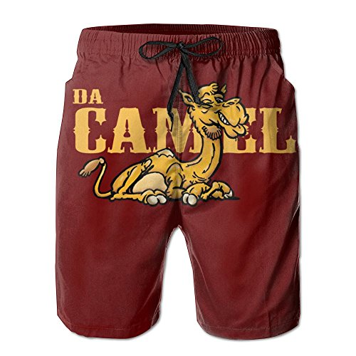 Camel Performance Beach Pants Men Swimming SweatpantsLeisure (Camel Costume Riding)