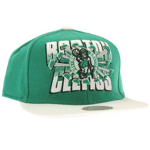 Mitchell & Ness–Gorra con visera plana para hombre Boston Celtics Backboard Beak