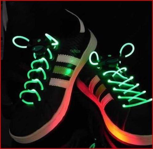 光る靴ひも LED靴ひも LED ランニングシューズ 靴紐 -グリーン
