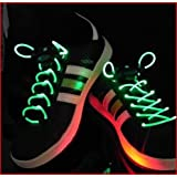 Green LED Shoelaces Light up Laces