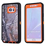 For Samsung Galaxy Note 5 Case,Fivers(TM) Heavy Duty Case 3 in 1 Three Advantages Waterproof Dustproof Shakeproof Forest Camouflage Desig Cell Phone Cases for Samsung Galaxy Note 5 (Tree- Orange)