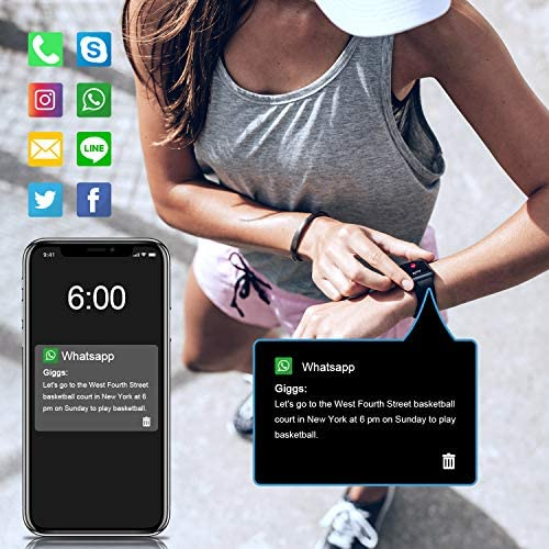 Letsfit Smart Watch, Fitness Tracker with Heart Rate Monitor, Activity Tracker with 1.3″ Touch Screen, IP68 Waterproof Pedometer Smartwatch with Sleep Monitor, Step Counter for Women and Men 51Dakwa5NNL
