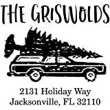 The Griswolds Christmas Address Stamp, Self-Inking, Stamps for Christmas Cards