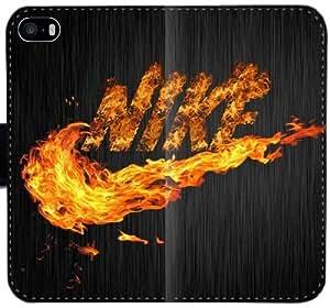 Nike Logo caja de la carpeta 6 6S 4,7 de cuero del Funda iPhone V9P3K funda 37qG3c duros funda personalizada del caso del tirón