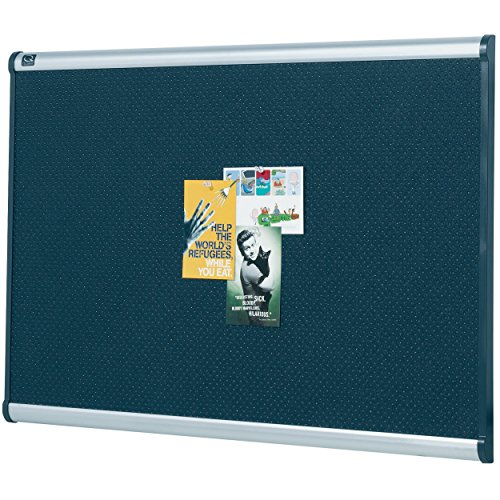 Quartet B343A Embossed Bulletin Board, Hi-Density Foam, 36 x 24, Black, Aluminum Frame