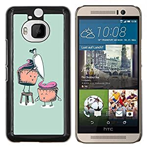 "Be-Star Único Patrón Plástico Duro Fundas Cover Cubre Hard Case Cover Para HTC One M9+ / M9 Plus (Not M9) ( Divertidos Cupcakes"" )"
