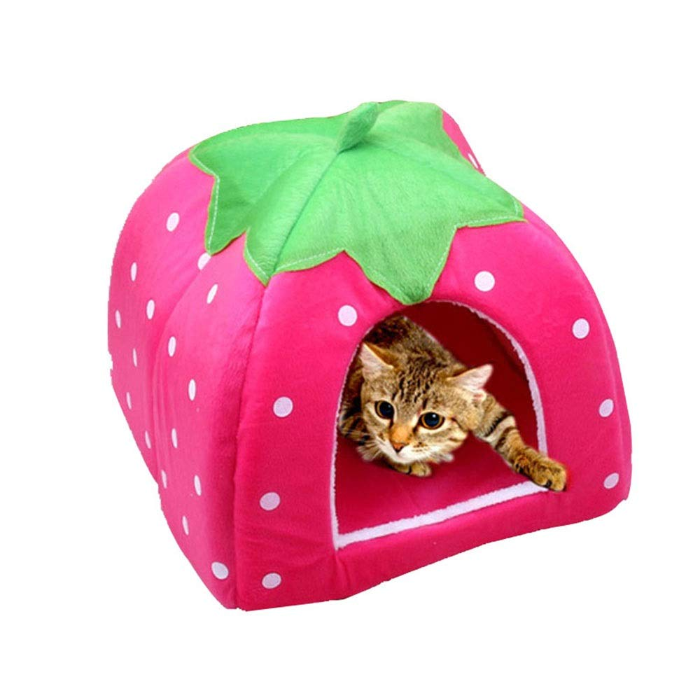 A H18XW17CM A H18XW17CM Xiao Jian Pet nest Kennel Dog House Dog Sofa Dog Bed Small Teddy VIP House Removable and Washable mats yurt cat Litter cat House Summer Kennel pet Bed (color   A, Size   H18XW17CM)