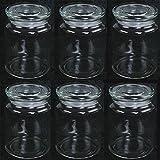 6 Stück Vorratsgläser mit Glasdeckel H 14 cm