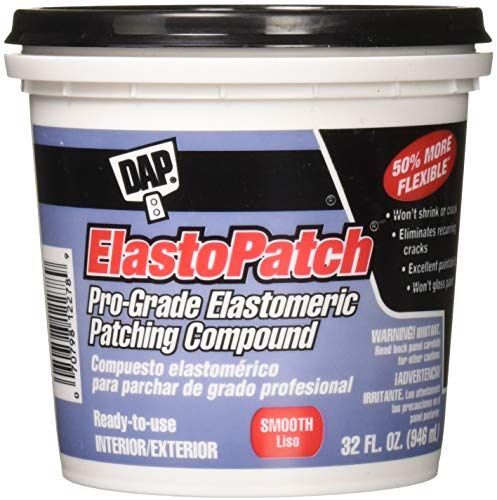 Dap 12278 Elastomeric Patch and Caulking Compound 1Quart Tub Packaging may vary