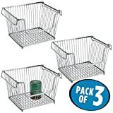mDesign Open Wire Storage Basket for Kitchen, Pantry, Cabinet -...