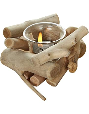 DierCosy Candelabro de Mesa de Madera Vela Estante del sostenedor de Vela de Madera Crafts decoración