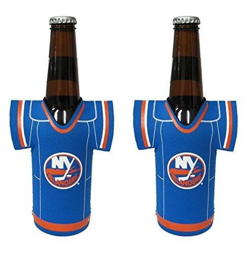 fan products of NHL Hockey 2014 Team Color Logo Bottle Jersey Holder Cooler 2-Pack (New York Islanders)