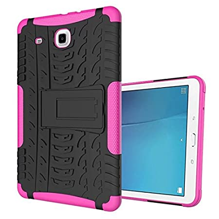 XITODA Samsung Galaxy Tab E 9.6 Hülle, Hybrid Armor Design mit Kickstand TPU Silikon + PC Back Cover Case für Samsung Galaxy