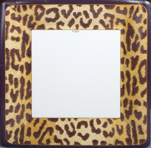 24 Disposable Square Dinner Paper Plates - Zanzibar, Leopard Skin (Zanzibar Leopard)