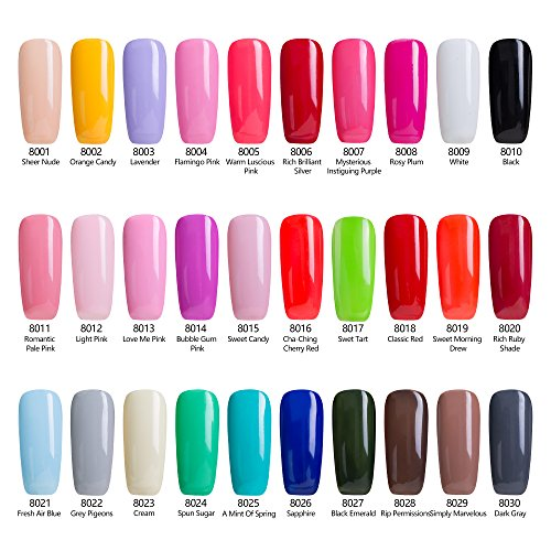 Uv Gel Nail Polish Starter Kit: Modelones UV LED Gel Nail Polish Starter Kit-Pack Of 6