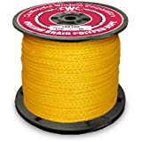 CWC Hollow Braid Polypropylene Rope, Yellow (3/4'' x 500')
