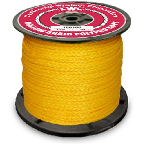(PolyPro Hollow Braid Rope - Yellow - 1/4