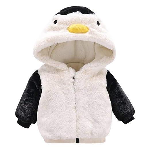 e600039cb3dbd Amazon.com: 0-24M Baby Girls Boys Winter Hooded Coat Cartoon Penguin Cloak  Jacket Plus Thick Velvet Warm Clothes: Clothing