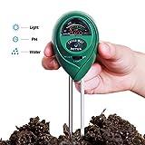 Soil PH Meter, Hip2cart 3-in-1 Soil Moisture Meter with Light, PH & Acidity Meter Plant Soil Tester Kits for Gardening Farming