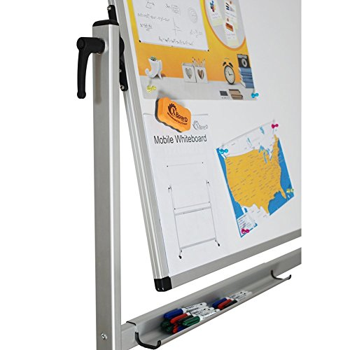 XBoard School Office Mobile Magnetic Dry Erase Board on Wheels,Double-Sided Rolling Whiteboard with Aluminum Stand, 60'' x 40'' by XBoard (Image #3)