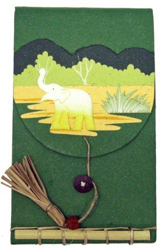 Mr. Ellie Pooh Elephant Dung Paper Fancy Memo Book, Dark ...
