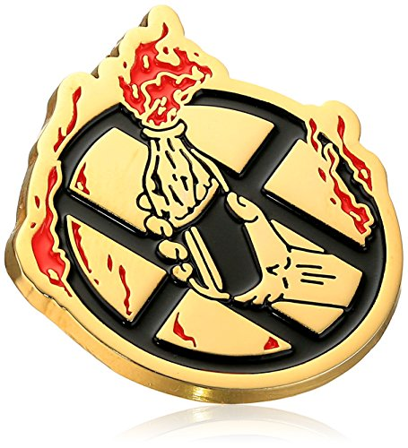 Huf Men's Cocktail Hour Pin, gold, One Size (Skate Pin)