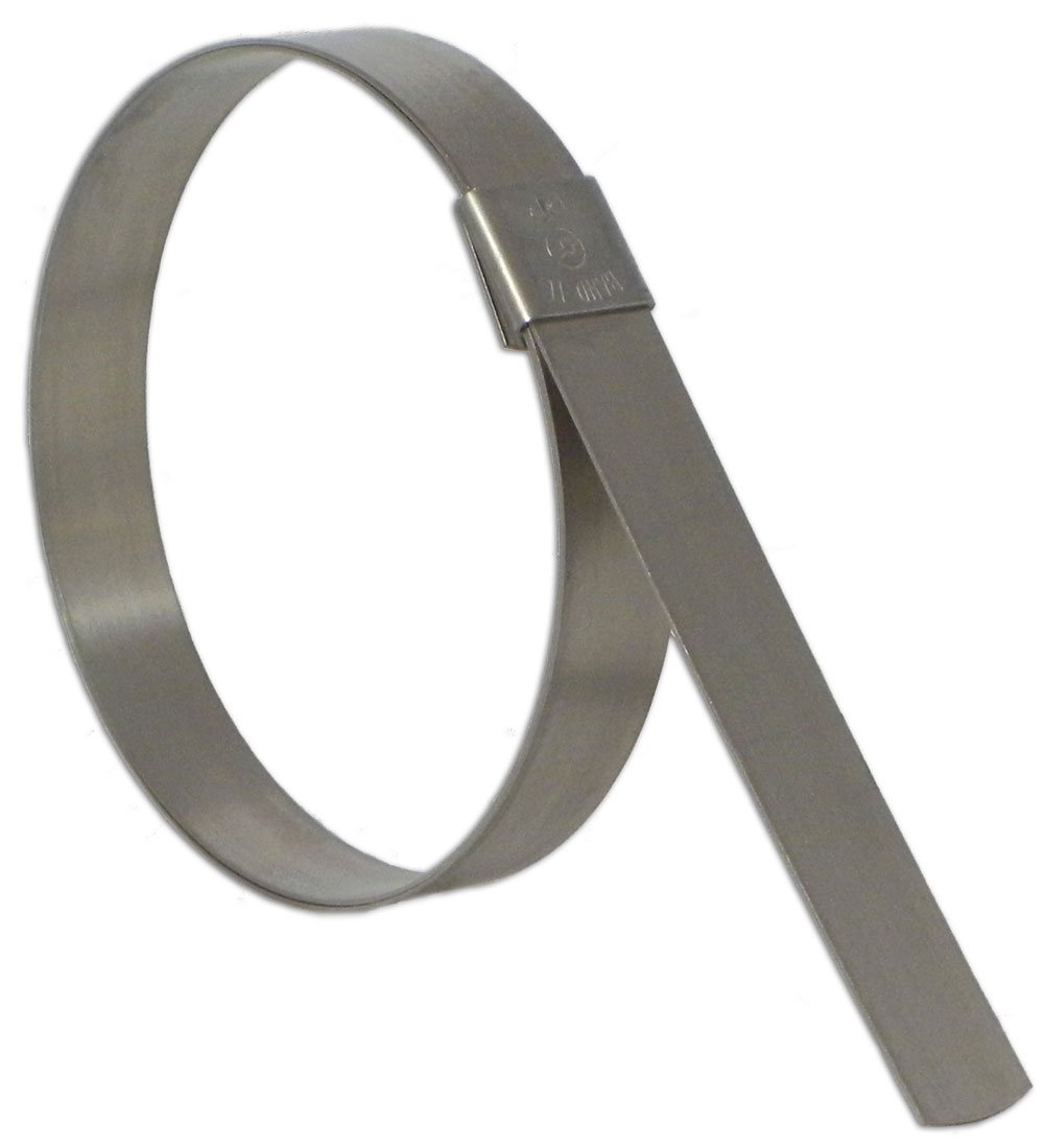 BAND-IT CP20S9 5/8'' Wide x 0.025'' Thick 5'' Diameter, 201 Stainless Steel Center Punch Clamp (25 Per Box)