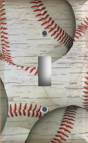 Weathered Baseball Decorative Light Switch Cover Wall Plate