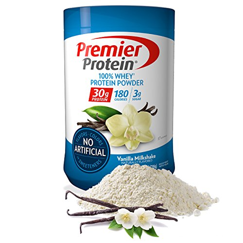 Premier Protein Whey Protein Powder, Vanilla, Packaging may Vary (17 Servings)