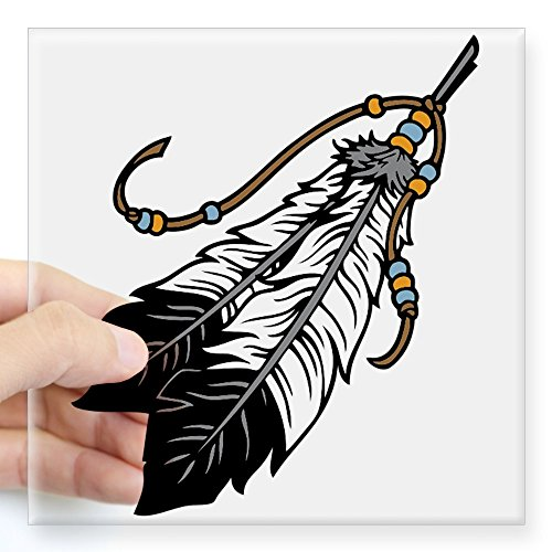 CafePress - Native American Feathers Sticker - Square Bumper Sticker Car Decal, 3