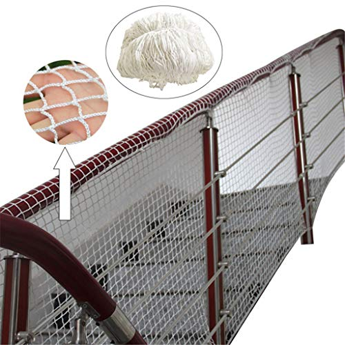 - Whryspa Nylon Fall Protection Safety nets Stair Balcony Safety Protection Fence Garden Fence Net,Building Safety net1,97'' Grid,1X50M/3X164FT