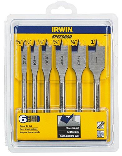 IRWIN Tools 88886 Speedbor Blue Groove Spade Bit Set, - Spade 0.75