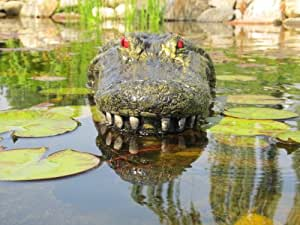 """28"""" Alligator Head Decoy & Pond Float with Reflective Eyes For Canada Geese & Blue Heron Control"""