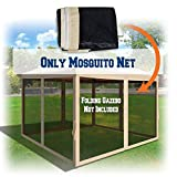 BenefitUSA Canopies Sidewalls 10' L X 6.4' W Mesh Wall for Pop Up Canopy Screen Room, Pack of 4 (Walls Only) (Beige)
