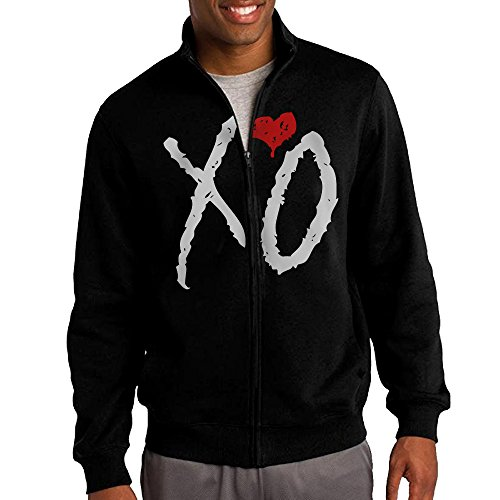 Simoon XO The Weeknd Men's Solid Stand Collar Zipper Jacket Size M