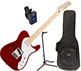 Fender Deluxe Telecaster Thinline Electric Guitar (Candy Apple Red) w/ Deluxe Gig Bag, Stand, and Tuner