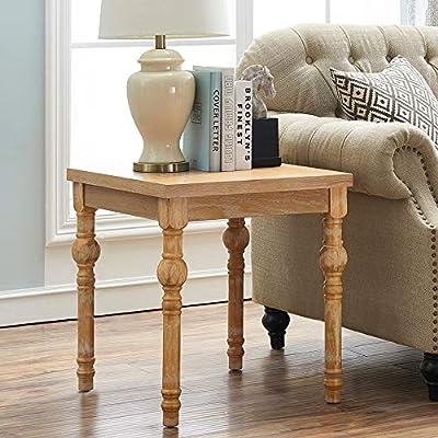 Amazon.com: O&K Furniture Farmhouse End Table Turned Legs, Side ...