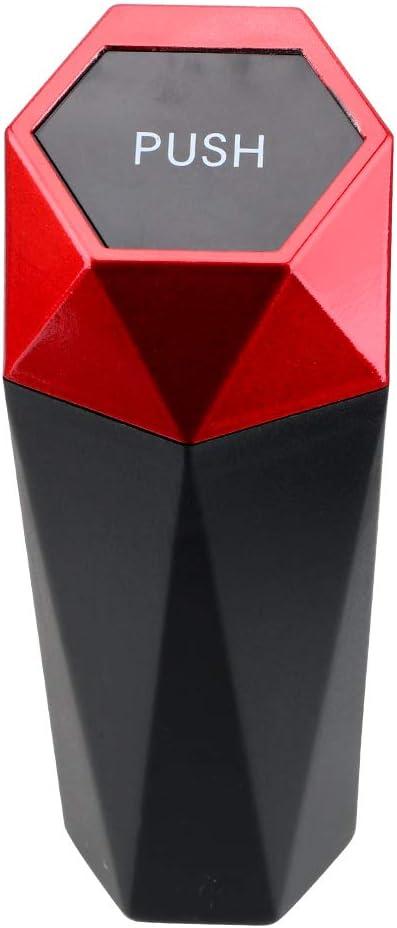 Gold 980IUHOP Auslaufsicherer Auto-M/ülleimer Tragbarer Auto-M/ülleimer Mit Deckel Auto-M/ülleimer F/ür Auto-Auto Home Schlafzimmer B/üro Mini-M/ülleimer