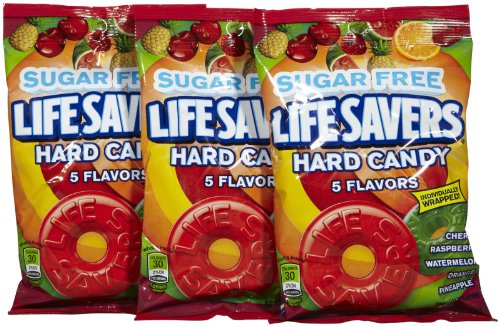 Life Savers Sugar Free Hard Candy, 5 Flavor-2.75 oz, 3 pk