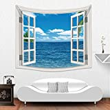Upersonality New Design Fake Window Home Decorative Wholesale Factory Custom Made Wall Tapestry (color2)