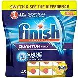 Reckitt Benckiser Finish Dishwasher Tablets, Quantum Max Lemon x45, 819 grams