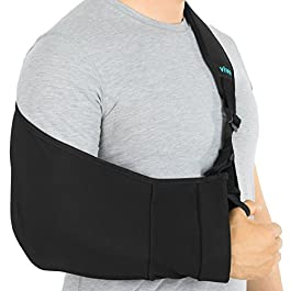 Vive Arm Sling – Medical Support Strap for Collar Bone, Rotator Cuff & Shoulder Injury – Adjustable, Breathable and…