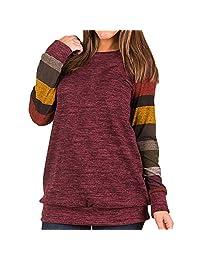 Fantasy Star Women Fashion Long Sleeve Cotton Knitted Casual Tunic Sweatshirt Tops