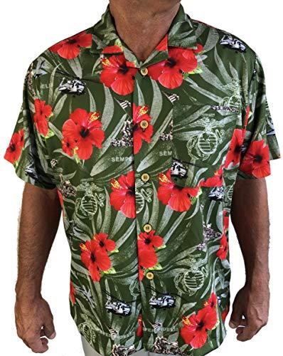 - AE Sport Marines Semper FI Hawaiian Shirt (X Large)