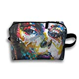 Hippie Hip Hop Cosmetic Bag For Purse Cosmetic Bag Accessories Pouch Large Capacity For Family